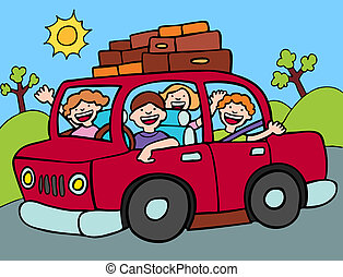 Clip Art Road Trip Clip Art road trip illustrations and stock art 19367 family going for a long drive with luggage