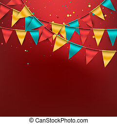 Birthday Background - Festive birthday background with...