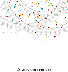 White Garlands - Vector festive background with white...