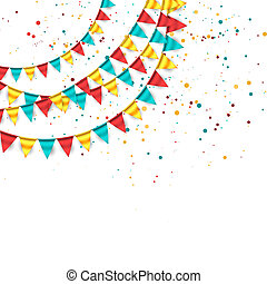 Colorful Buntings - Colorful buntings festive background
