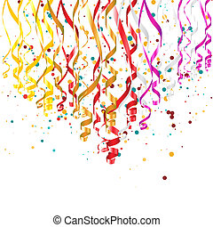 Confetti Background - Garlands with confetti