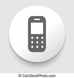 Mobile phone icon on white background. EPS10
