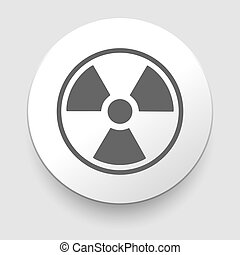 Nuclear Symbol Icon Vector on white background EPS10