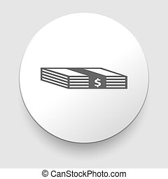 Vector Stack of Money Icon on white background. EPS10