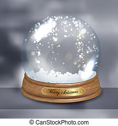 Empty Snow dome - Empty vector snow dome or snowglobe
