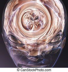 Surreal Human Brain - Digital visualization of a human brain