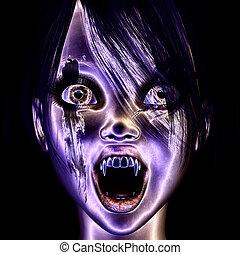 Vampire - Digital visualization of a vampire