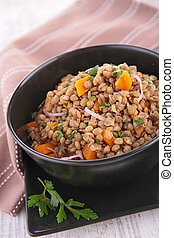 lentil with carrot and onion
