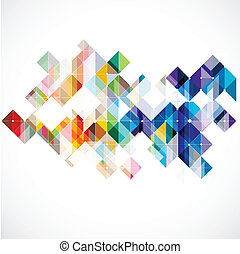 Modern colorful geometric abstract template, Vector...