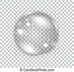 Bubble soap - Transparent soap bubble Vector realistic...