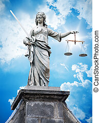 justitia statue - An image of a beautiful justitia statue in...