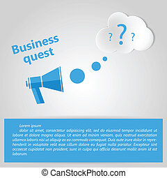 Flat vector illustration for Business quest