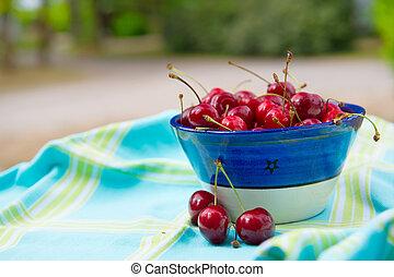 Bowl fresh cherries