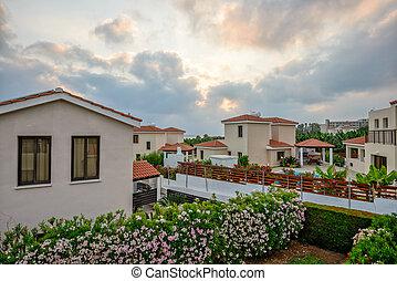 Resort village on Cyprus sea coast