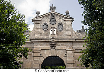 Gate in Vysehrad, Prague, Czech Republic - Main Gate in...
