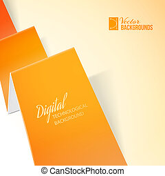 Orange paper. - Orange paper over light background. Vector...