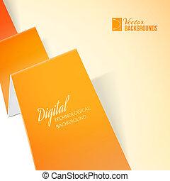 Orange paper.