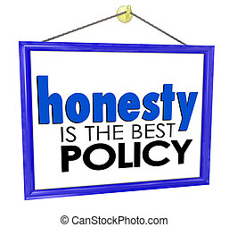 Honesty is the Best Policy Store Business Company Sign -...