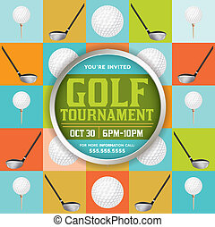 Golf Tournament Illustration - An golf tournament flyer...
