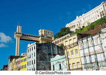 Salvador da Bahia - Lacerda Elevator, downtown, Salvador da...