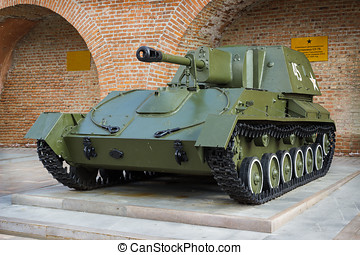 Soviet self-Propelled gun - RUSSIA, NIZHNY NOVGOROD - AUG...