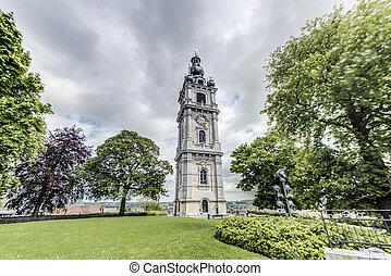 Belfry of Mons in Belgium. - Belfry of Mons, one of Belfries...