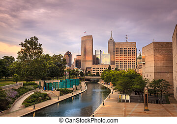 Indianapolis - Beautiful view of Indianapolis skyline at...