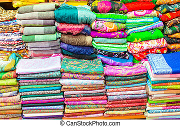 Colorful turkish scarf on Grand bazaar
