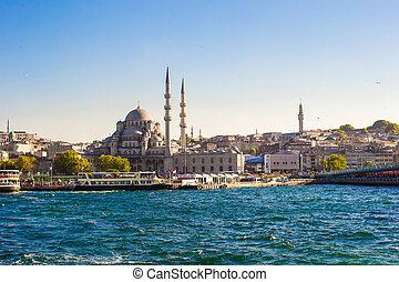 View of the old town and beautiful mosque in Istanbul - The...