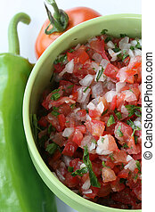 Pico de Gallo - chopped tomatoes, onions, peppers, and...