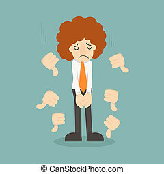 Businessman unlike thumbs down , eps10 vector format