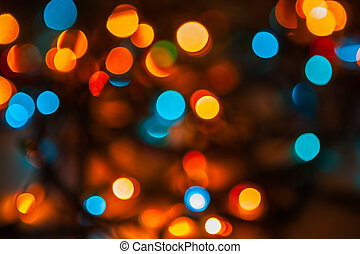 abstract bokeh of street lights