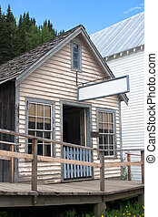 Old historic saloon - Vintage saloon from 1800s in historic...