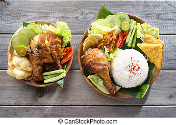 Asian food - Famous traditional Indonesian food. Delicious...