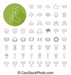 Prizes & Awards icons , thin icon design , eps10 vector...