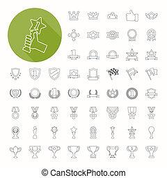 Prizes & Awards icons , thin icon design