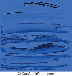 Blue background with black brush paint