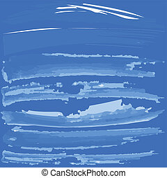 Blue background with white brush paint