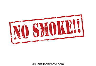 No smoke - Rubber stamp with text no smoke inside, vector...