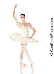 jovem, Caucasiano, bailarina