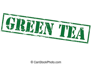 Green tea - Rubber stamp with text green tea inside, vector...