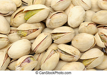 Pistachios nuts background