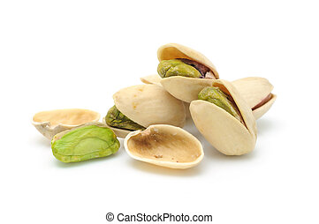 Heap of pistachios nuts