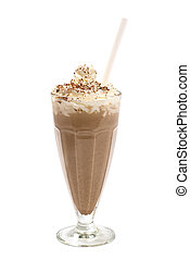 Chocolate milkshake - Popular summer cooling milkshake with...