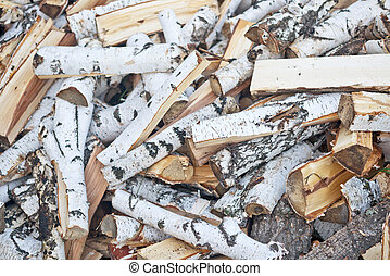 birch firewood - chopped birch firewood