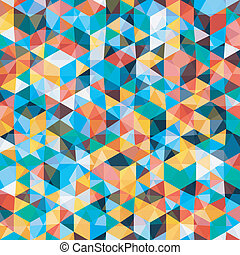 Abstract Mosaic Pattern in Retro Colors, vector background