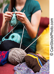 do it yourself knitting - do it yourself a knitting female...