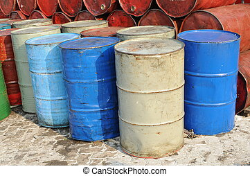 Stack of drums for industrial use