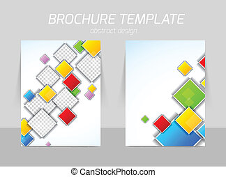 colorful squares flyer template