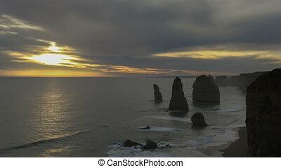 Timelapse 12 Apostles in Australia - Sunset Timelapse 12...